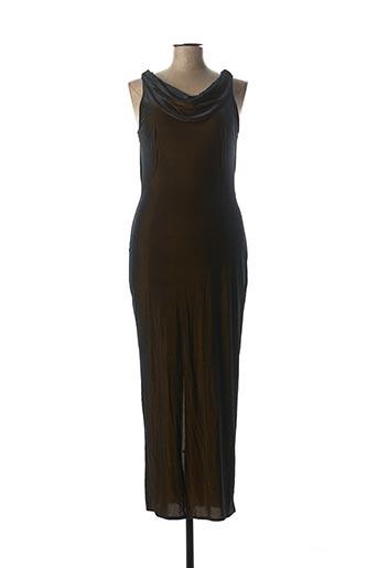 Robe mi-longue marron DIDIER PARAKIAN pour femme