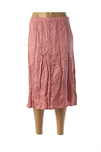 Jupe mi-longue rose APRIORI pour femme