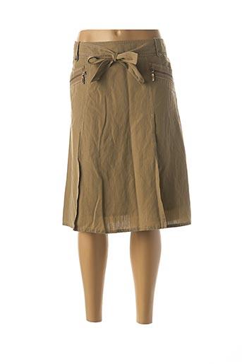 Jupe mi-longue vert APRIORI pour femme