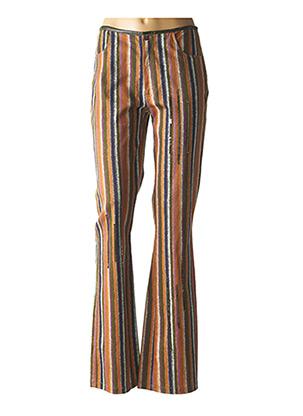 Pantalon casual marron DP JEANS pour femme
