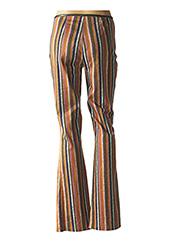 Pantalon casual marron DP JEANS pour femme seconde vue