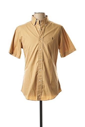 Chemise manches courtes beige RALPH LAUREN pour homme