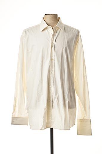 Chemise manches longues blanc ALAIN GAUTHIER pour homme