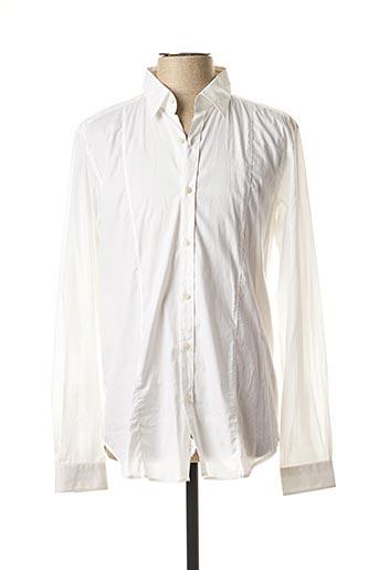 Chemise manches longues blanc MESSAGERIE pour homme