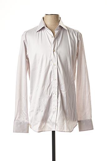 Chemise manches longues gris CALIBAN pour homme