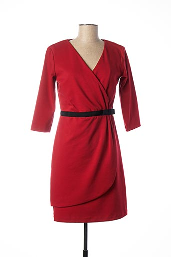 Robe mi-longue rouge PAUL BRIAL pour femme