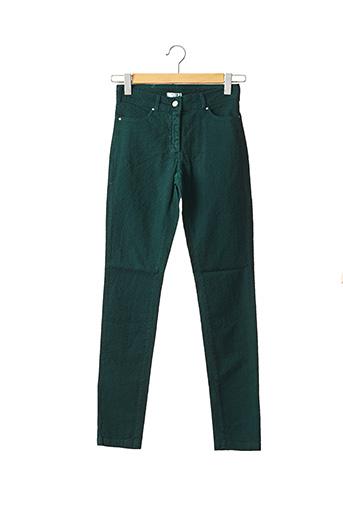Pantalon casual vert PAUL BRIAL pour femme