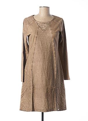 Robe mi-longue beige MALOKA pour femme