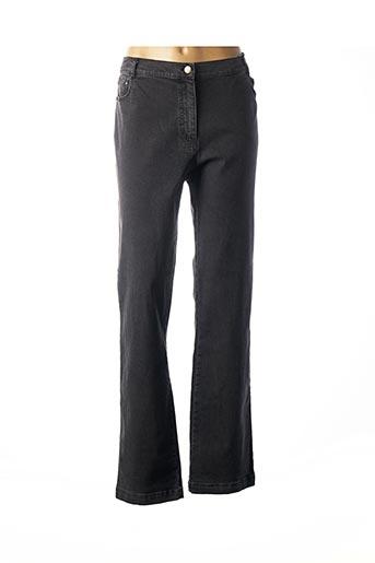 Jeans coupe droite noir ARMOR LUX pour femme