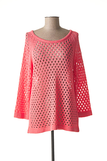 Pull col rond rose MARBLE pour femme
