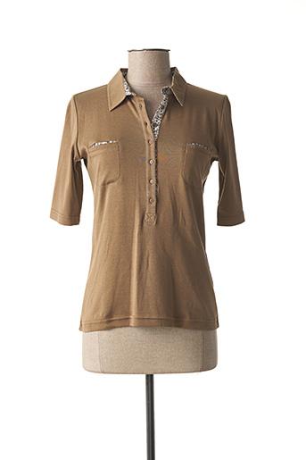 T-shirt manches courtes marron ARMOR LUX pour femme