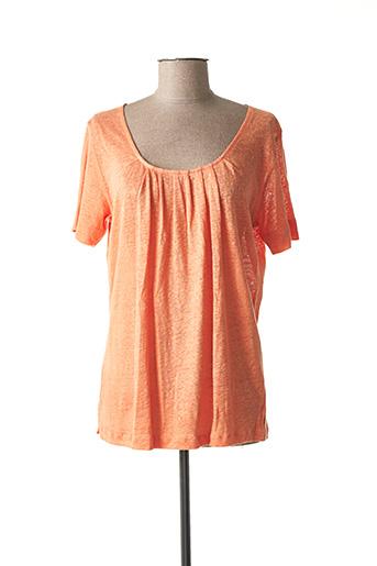 T-shirt manches courtes orange ARMOR LUX pour femme