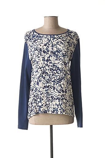 T-shirt manches longues bleu ARMOR LUX pour femme