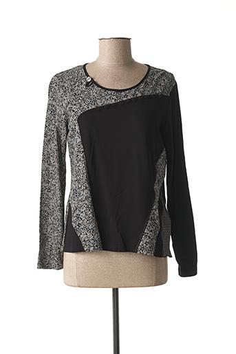 T-shirt manches longues noir PAUPORTÉ pour femme