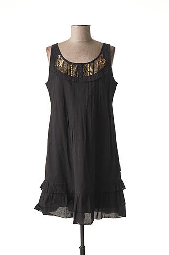 Robe mi-longue noir BARANDI pour femme
