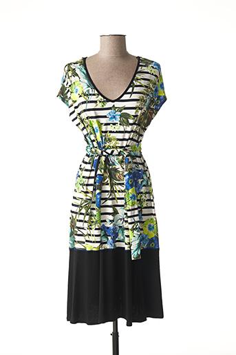 Robe mi-longue vert BARANDI pour femme