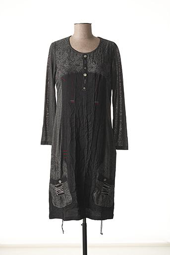 Robe pull gris JEAN GABRIEL pour femme