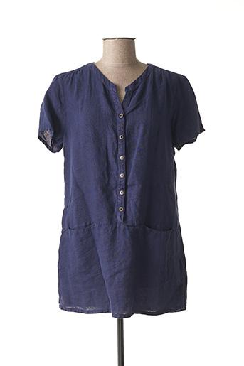 Tunique manches courtes bleu ARMOR LUX pour femme