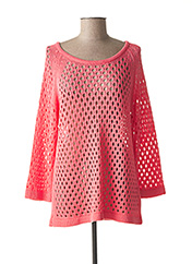 Pull col rond rose MARBLE pour femme seconde vue