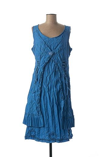 Robe mi-longue bleu FRANSTYLE pour femme