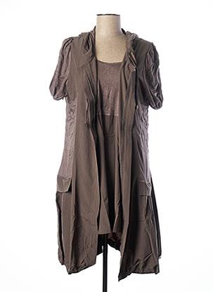 Veste/robe marron FRANSTYLE pour femme