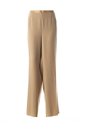 Pantalon casual beige ELENA MIRO pour femme
