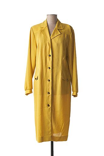 Manteau long jaune CHARLES GUITARD pour femme