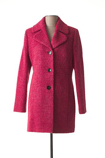 Manteau long rose BARBARA LEBEK pour femme