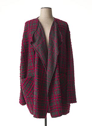 Veste casual violet FRANCK ANNA pour femme