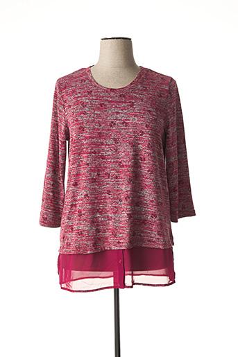 Pull tunique rouge CISO pour femme