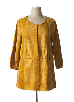 Tunique manches longues jaune BELLA BLUE pour femme