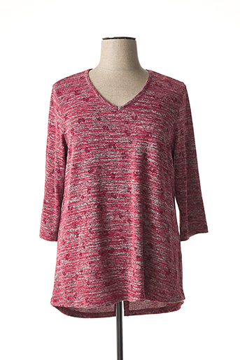 Pull col V rouge CISO pour femme