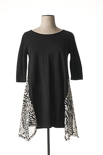 T-shirt manches longues noir G!OZE pour femme