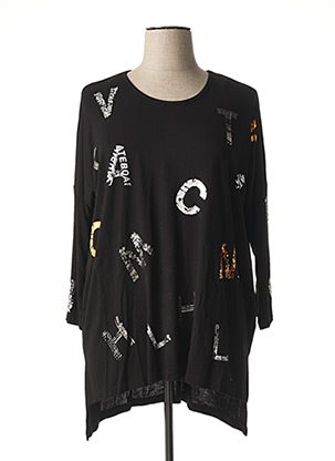T-shirt manches longues noir ALAIN MURATI pour femme