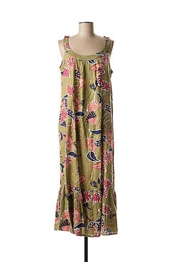 Robe longue vert JENSEN pour femme