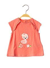 T-shirt manches courtes rose MAYORAL pour fille seconde vue
