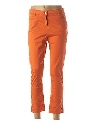 Pantalon 7/8 orange JULIE GUERLANDE pour femme