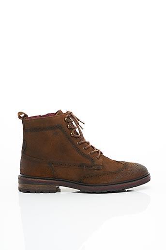 Bottines/Boots marron FLUCHOS pour homme