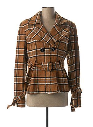 Manteau court marron MOLLY BRACKEN pour femme