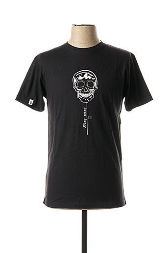 T-shirt manches courtes noir UNICO pour homme