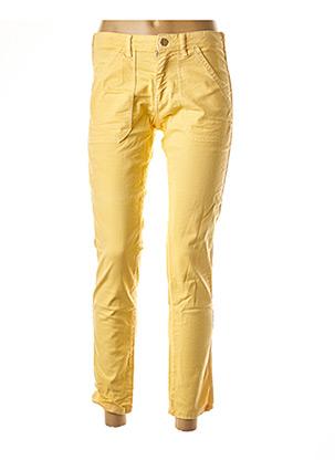 Pantalon 7/8 jaune BÔ-M pour femme