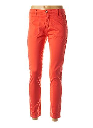 Pantalon casual rouge F.A.M. pour femme