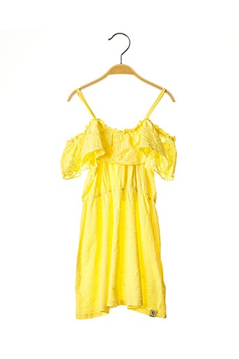 Robe mi-longue jaune GARCIA pour fille