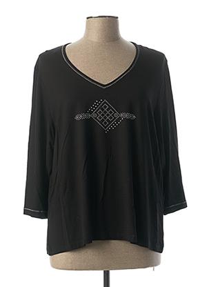 T-shirt manches longues noir CHRISTINE LAURE pour femme