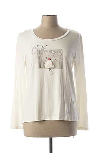 T-shirt manches longues blanc ANANKE pour femme