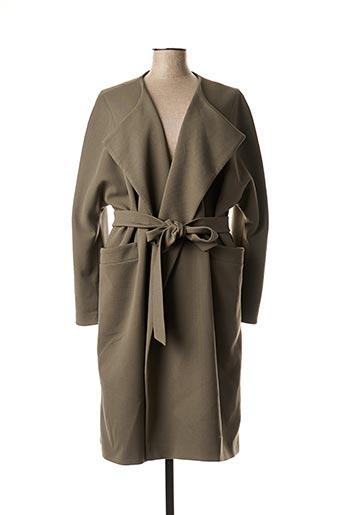 Manteau long vert CHIFFON DE PARIS pour femme