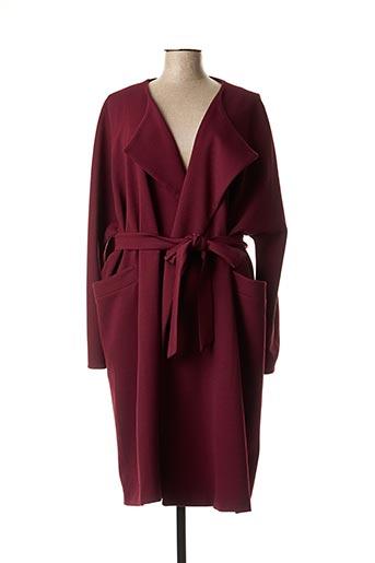 Manteau long violet CHIFFON DE PARIS pour femme