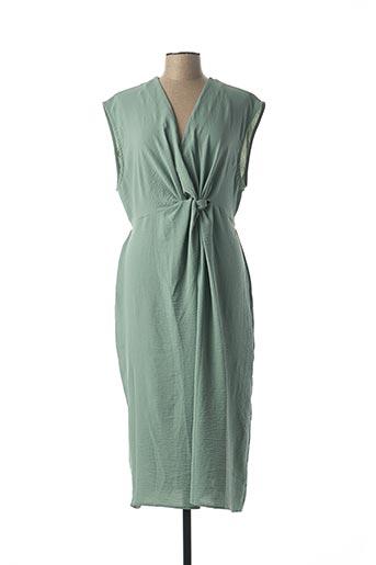 Robe longue vert CLP pour femme