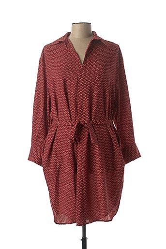 Robe mi-longue rouge CHRISTY pour femme