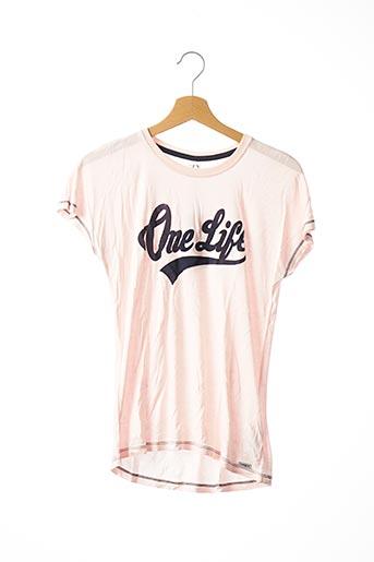 T-shirt manches courtes rose NAME IT pour fille